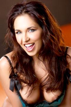 Zoe Britton Sexy In Satin