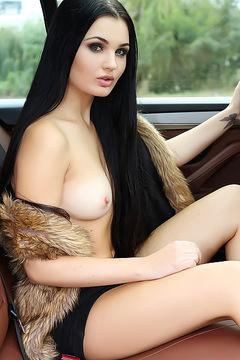 Beautiful Teen Celeste In A Luxurious Car